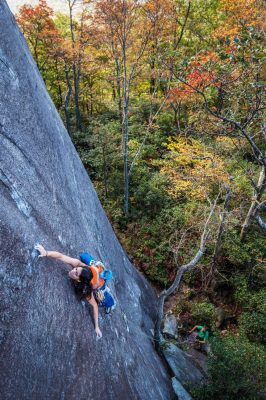 Casie Cañez Looking Glass Rock Hyperbola Direct 5.11a
