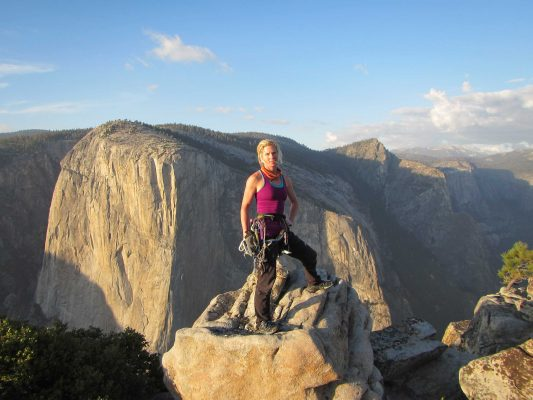Helen Sinclair High above Yosemite Valley