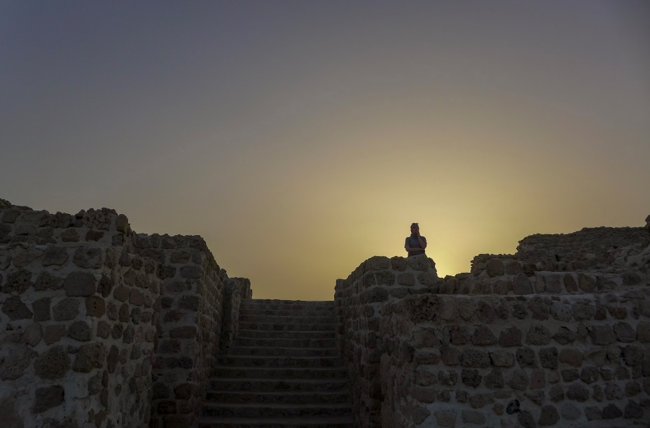 Alan Goldbetter Misty Mountain Ambassador Update Blog How I Ended Up in Bahrain The Planning Sunset Bahrain Fort 1
